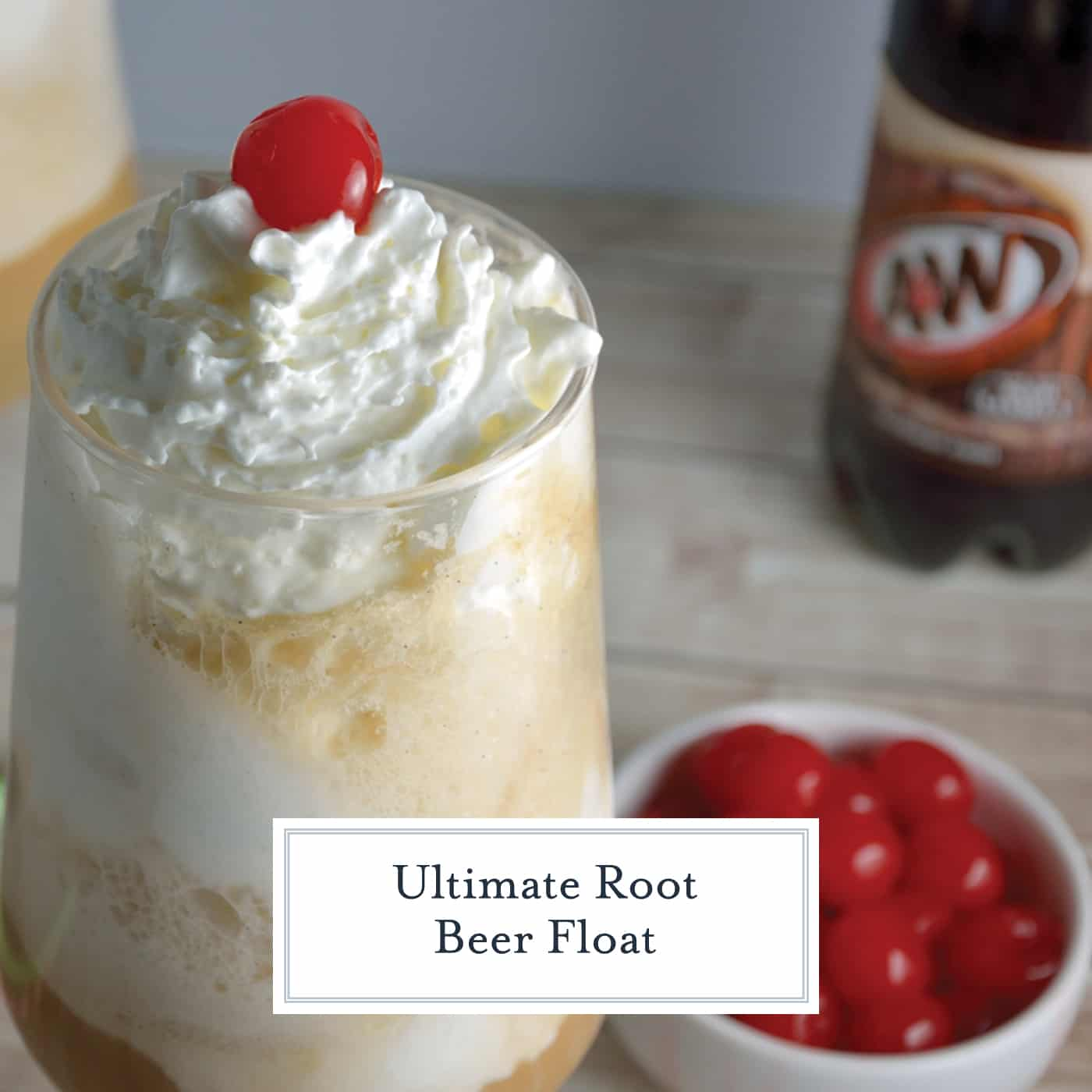 The Ultimate Root Beer Float will elevate your traditional recipe to float stardom! Nothing says childhood nostalgia like a Root Beer Float! Alcoholic root beer float version also included! #rootbeerfloat www.savoryexperiments.com