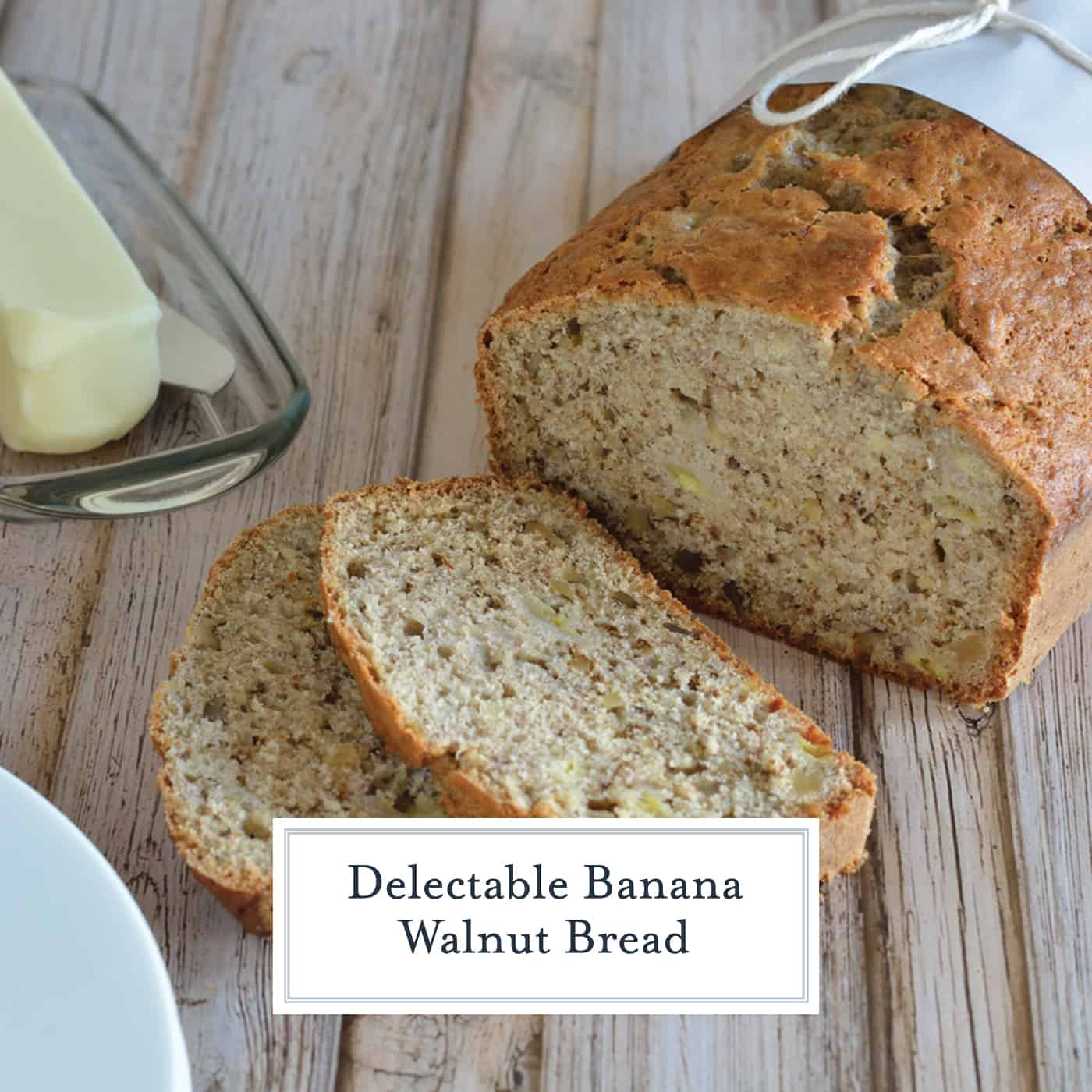 Classic Banana Walnut bread is always a winning way to use up ripe bananas. Fresh out of the oven or freezer friendly, this is the best banana bread recipe out there! #bananabread #bananawalnutbread www.savoryexperiments.com
