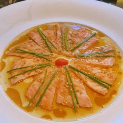 Nobu- Salmon Sashimi New Style