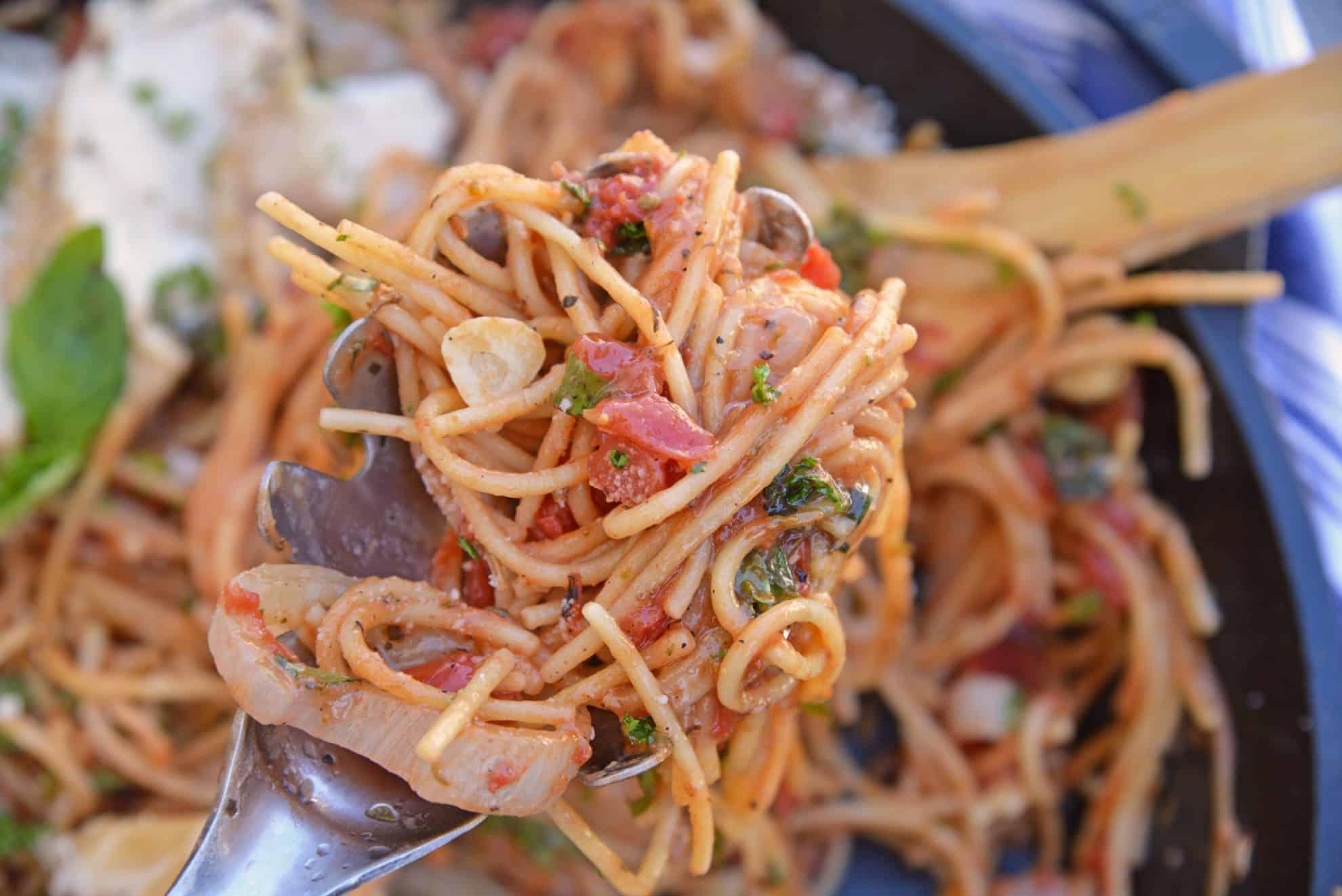 Spoonful of Chicken Bruschetta Pasta