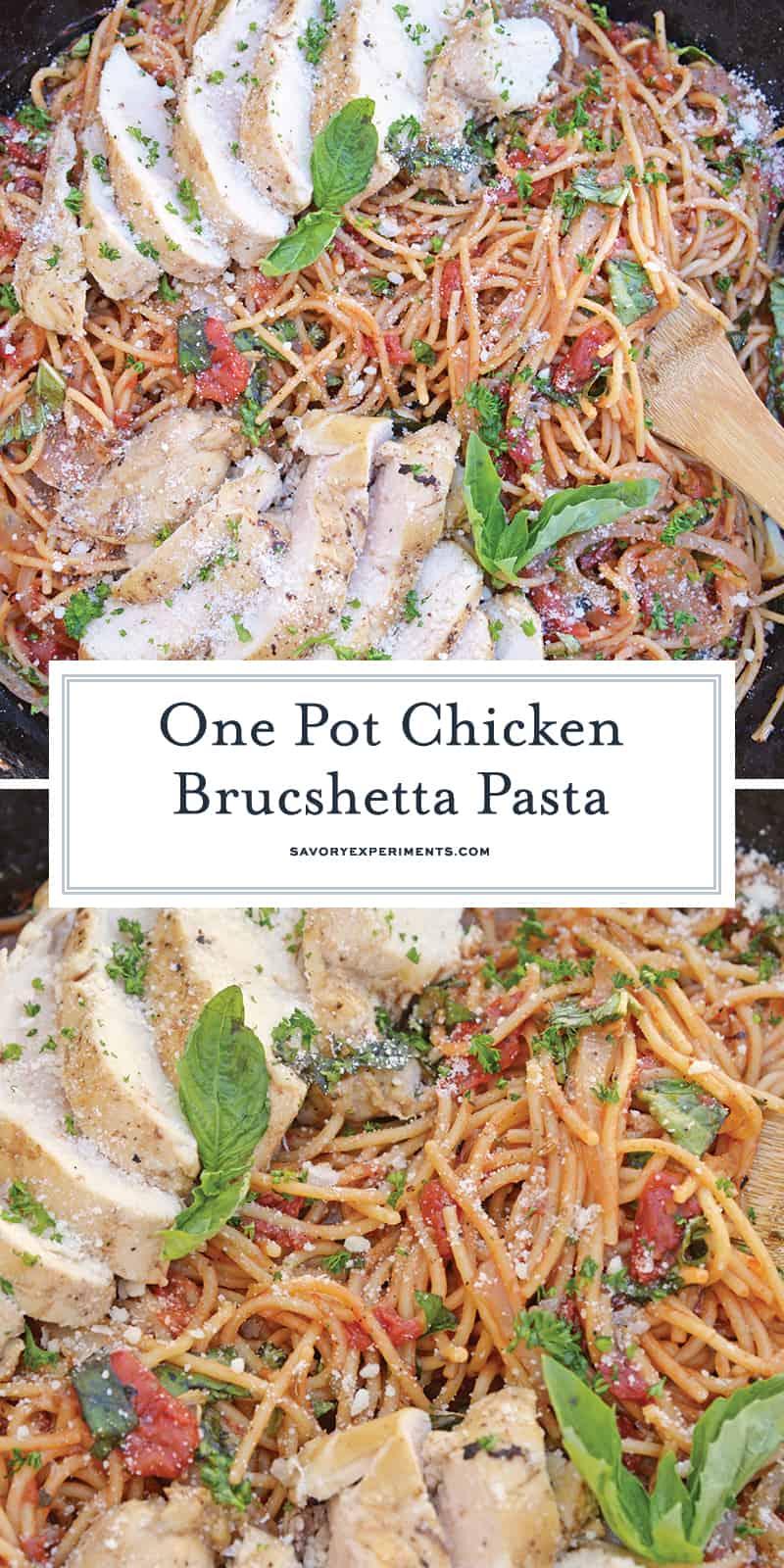 Chicken Bruschetta Pasta for Pinterest