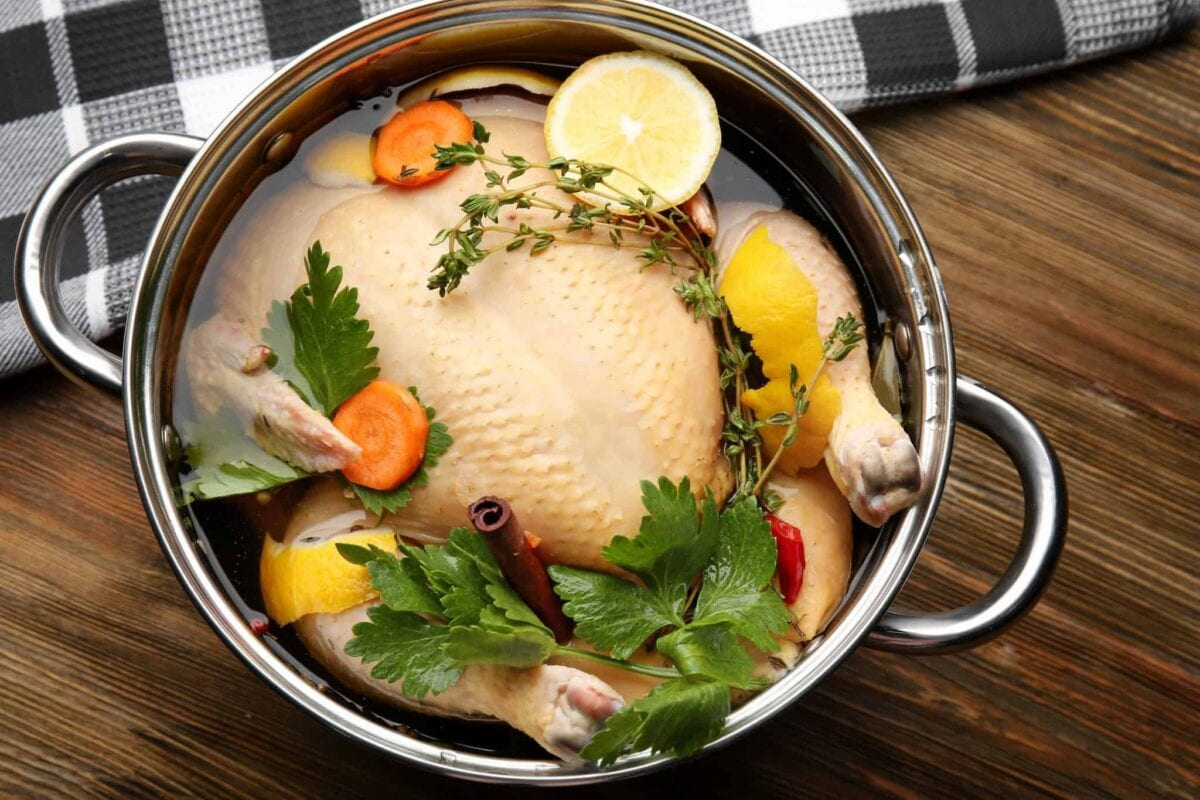 How to Brine a Turkey- a step-by-step guide for brining turkey, tips for a better turkey, how to brown turkey skin and a recipe for juicy turkey. #turkeybrinerecipe #thanksgivingturkeyrecipe www.savoryexperiments.com