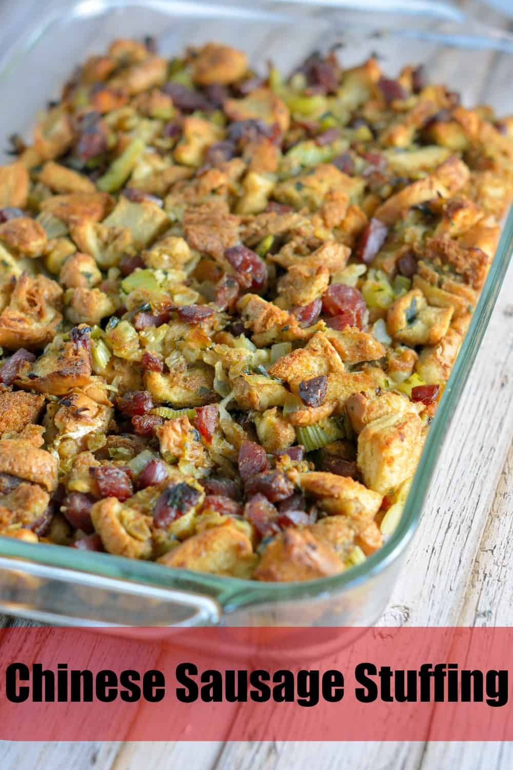 Chinese Sausage Stuffing - Savory Experiments