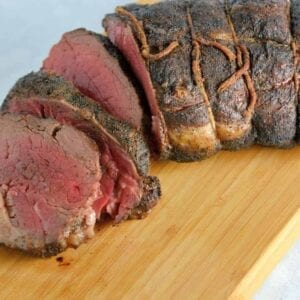 Coffee Crusted Beef Tenderloin Recipe- A simple and tasty rub for a tender and moist beef tenderloin.
