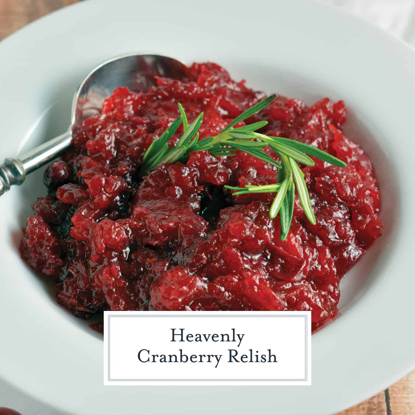 This homemade Cranberry Relish recipe is perfect for your Turkey Day festivities and will soon be a must-have every holiday season.  #cranberryrelish #cranberrysauce www.savoryexperiments.com
