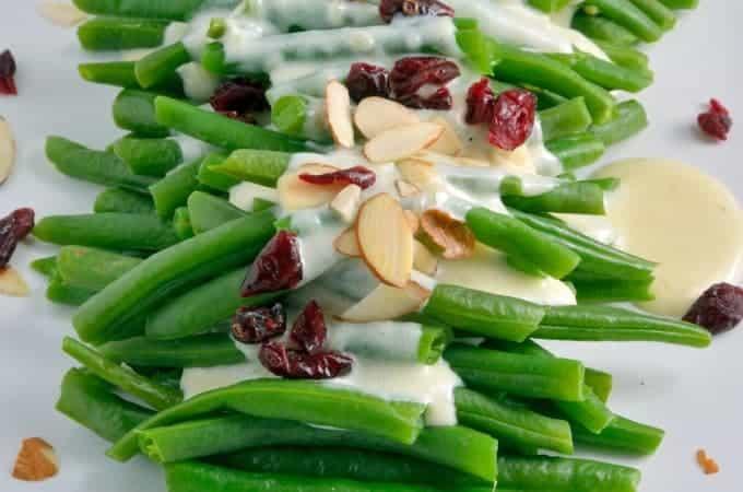 Green Beans in a Mascarpone Cream Sauce