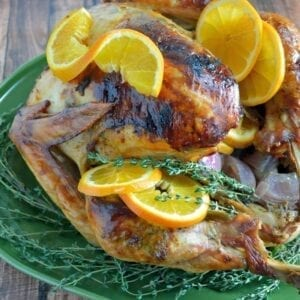 Orange, Anise and Thyme Roasted Turkey Recipe- Step-by-Step Guide to The Best Roast Turkey without hours of prep work. A moist and flavorful Thanksgiving turkey recipe that will leave your guests wanting more!