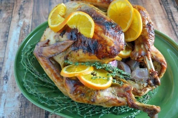 Orange Thyme Turkey- The Best Roasted Turkey Recipe