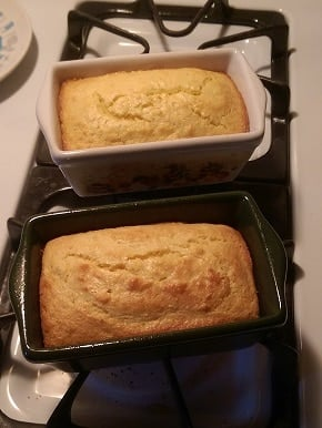 two loaves of cornbread