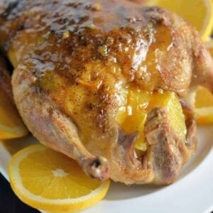 Crispy Duck A L'Orange Recipe- You won't believe how easy this dish really is! Classic crispy duck a l'orange makes for a perfect holiday or special event dinner. Super juicy and flavorful meat with a crispy, seasoned skin.