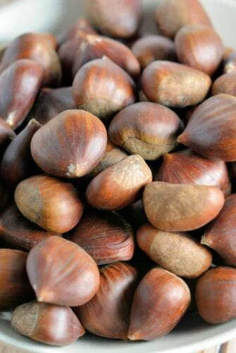 How to Roast Chestnuts- step-by-step instructions on how to roast and peel chestnuts.