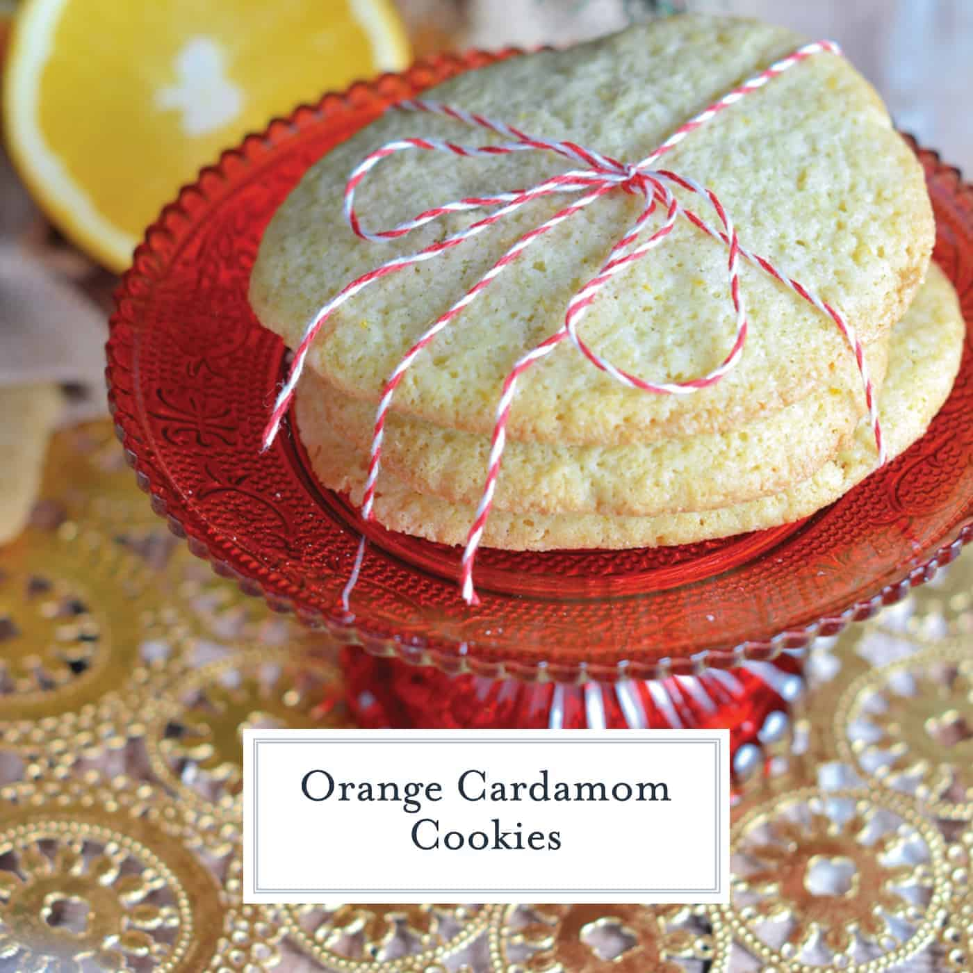 Orange Cardamom Cookies  provide a festive flavor for holiday slice and bake cookies. Make ahead and even freeze until you are ready to bake! #freezercookies #sliceandbakecookies #cardamomcookies #orangecookies www.savoryexperiments.com