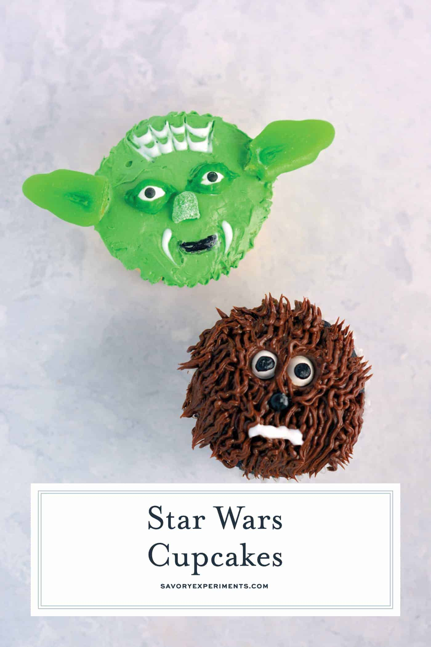 Star Wars Cupcakes Easy Yoda And Chewie Cupcakes