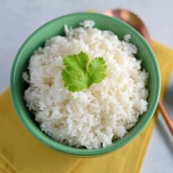 Cilantro-Lime Coconut Rice - The only way to eat rice! Flavored with coconut milk, fresh cilantro or Thai basil and citrus zest!