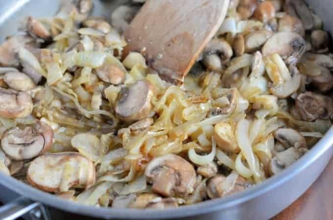 Sauteed Garlic Mushrooms and Onions