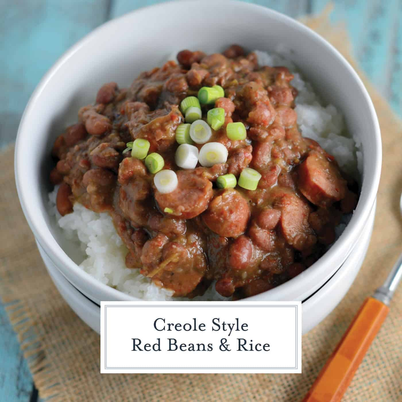 Red Beans and Rice is a classic Carnival and Mardi Gras dish straight from New Orleans. Find the trick for the perfect texture in this recipe! #redbeansandrice #mardigras #creolefood www.savoryexperiments.com