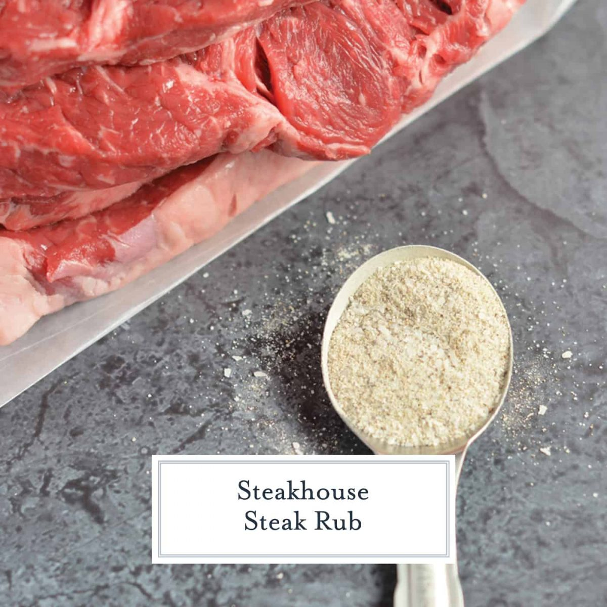 Steakhouse Steak Rub is a secret recipe that I received from a friend at a 5-star steakhouse. You won't beleive how easy it is to make and how delicious your steak will taste! #steakrub #beefseasoning www.savoryexperiments.com