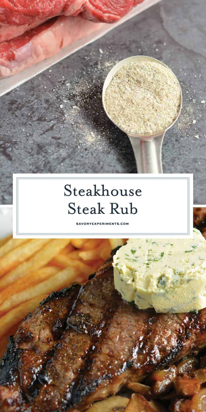 Steakhouse Steak Rub is a secret recipe that I received from a friend at a 5-star steakhouse. You won't beleive how easy it is to make and how delicious your steak will taste!#steakrub #beefseasoning www.savoryexperiments.com