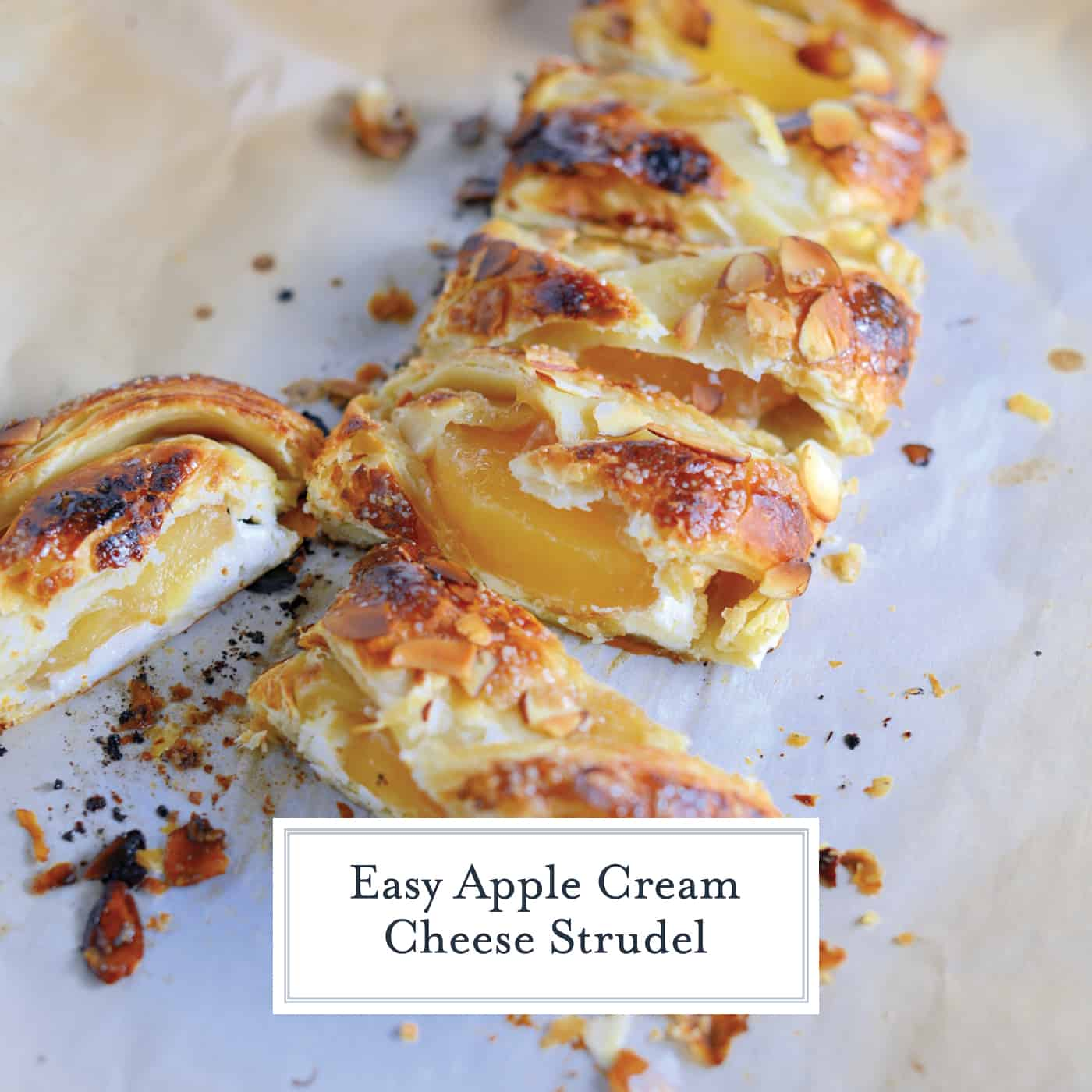 Easy Apple Cream Cheese Strudel