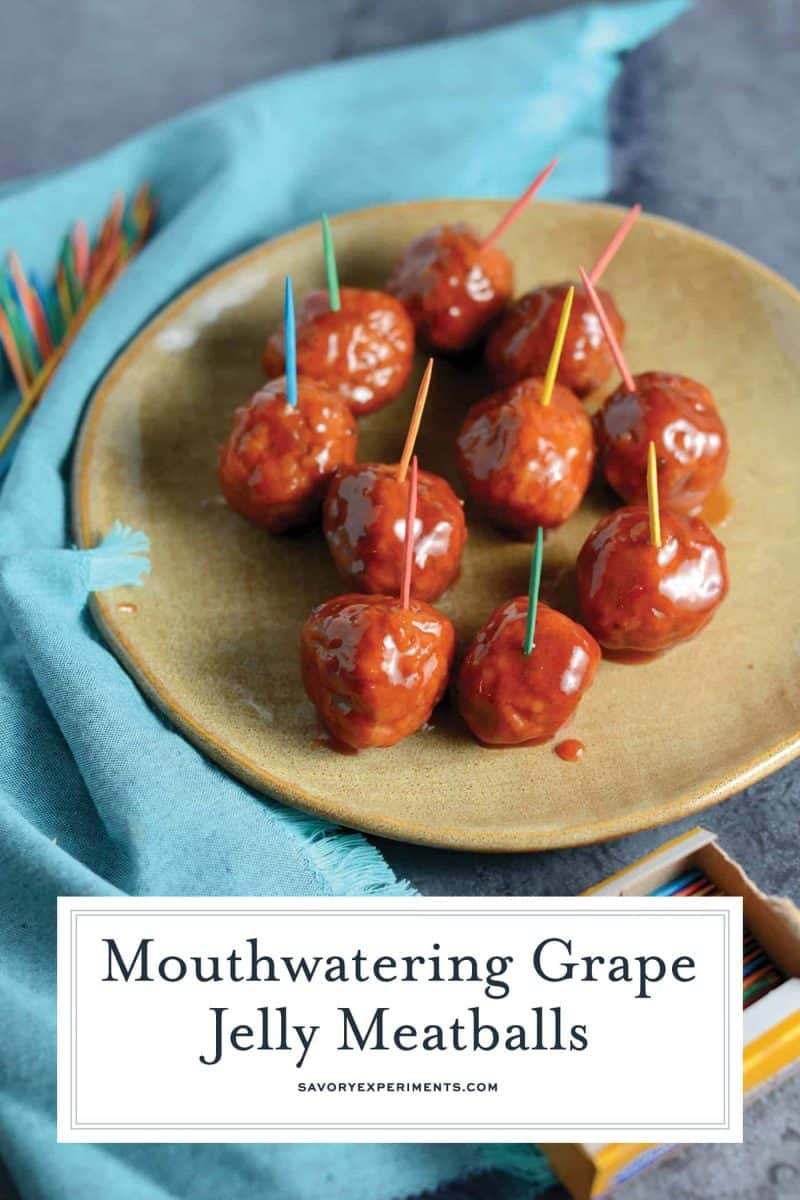Grape Jelly Meatballs for Pinterest