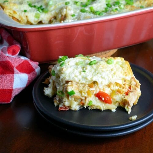 Green Chile Chicken Lasagna Savory Experiments