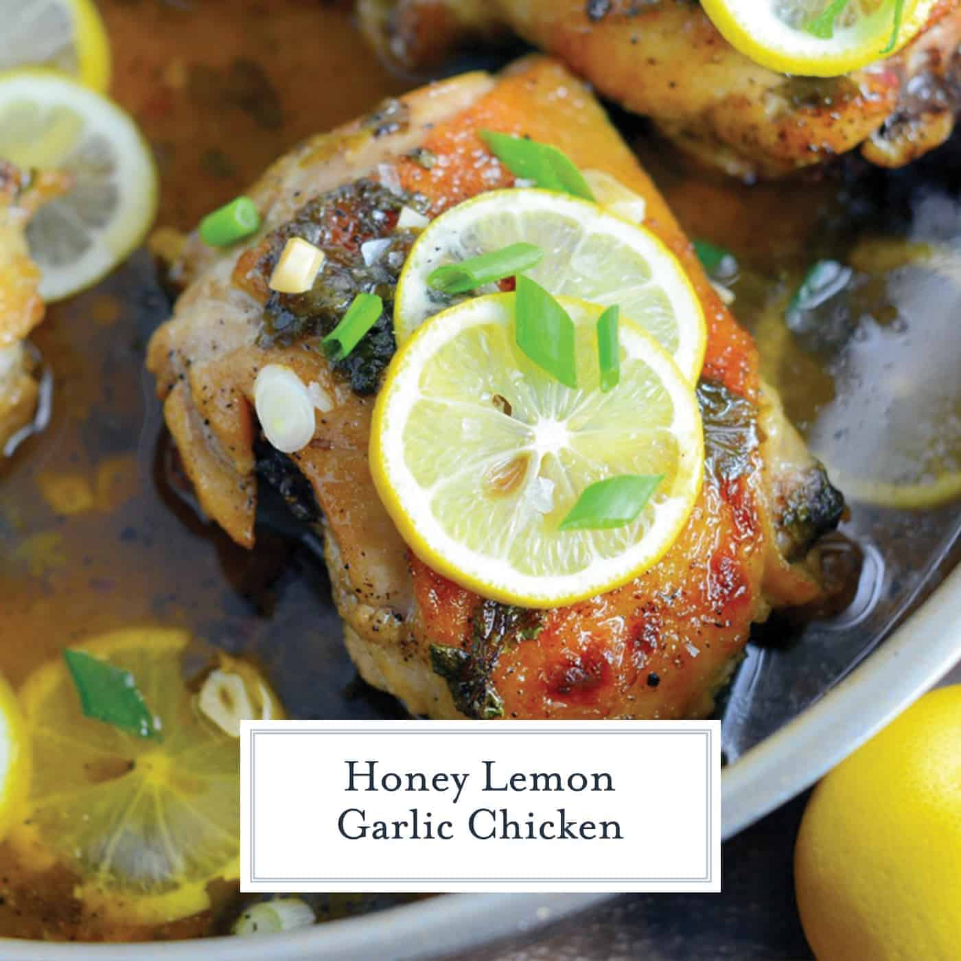 Lemon Garlic Chicken is an easy dinner recipe made with garlic and honey to make this sauce bright and tasty! Serve lemon chicken over pasta, rice or toasted couscous. #chickenrecipes #lemongarlicchicken www.savoryexperiments.com