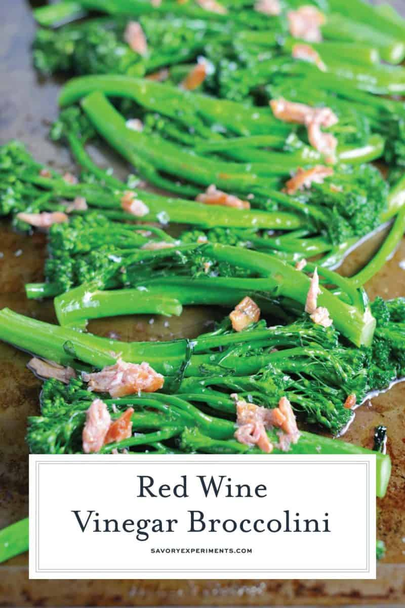 red wine vinegar and garlic broccolini
