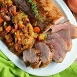 Apple Spiced Pork Tenderloin and Stuffing