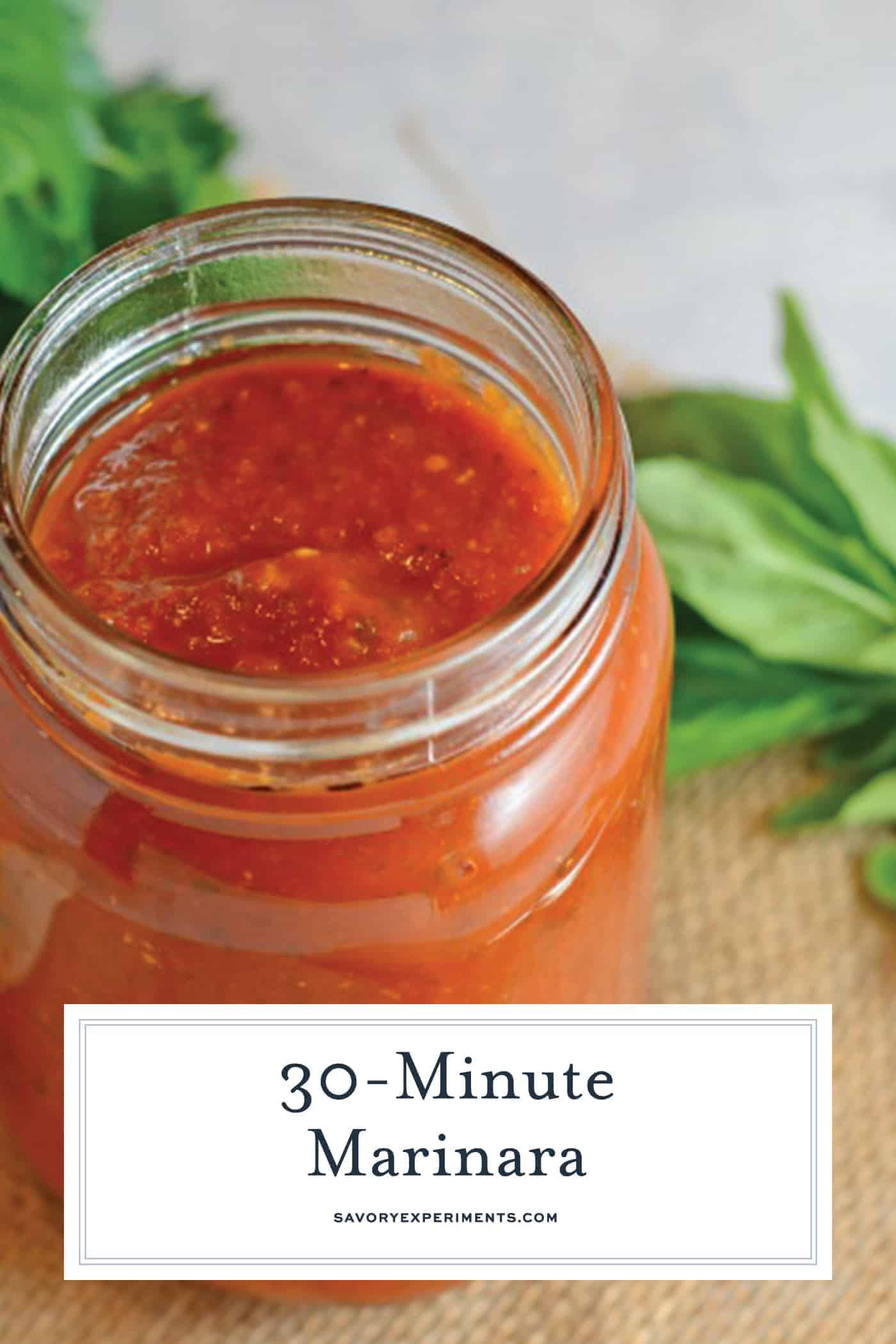 Marinara Sauce is one of the simplest of Italian sauces. Processes and tastes can vary greatly, but it all comes down to tomatoes, garlic, onion and herbs. #homemadetomatosauce #marinarasauce www.savoryexperiments.com