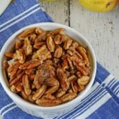 Candied walnuts are so easy to make, why spend the extra money at the grocery store. Seriously, walnuts themselves are already pricey enough.