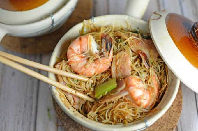 Thai Shrimp and Glass Noodles- Kung Op Wun Sen