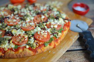 Tomato and Pesto Pizza