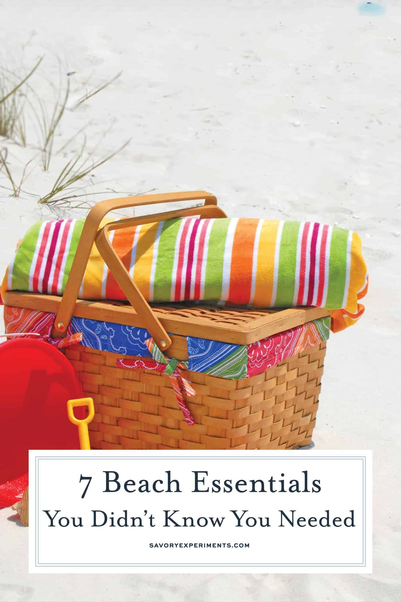 Taking a trip to the beach soon? You may think you have everything you needed, but these are 7 beach essentials you didn't know you needed! I bet you've never heard the tip in #4! www.savoryexperiments.com