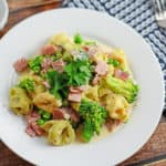 Creamy Tortellini and Ham