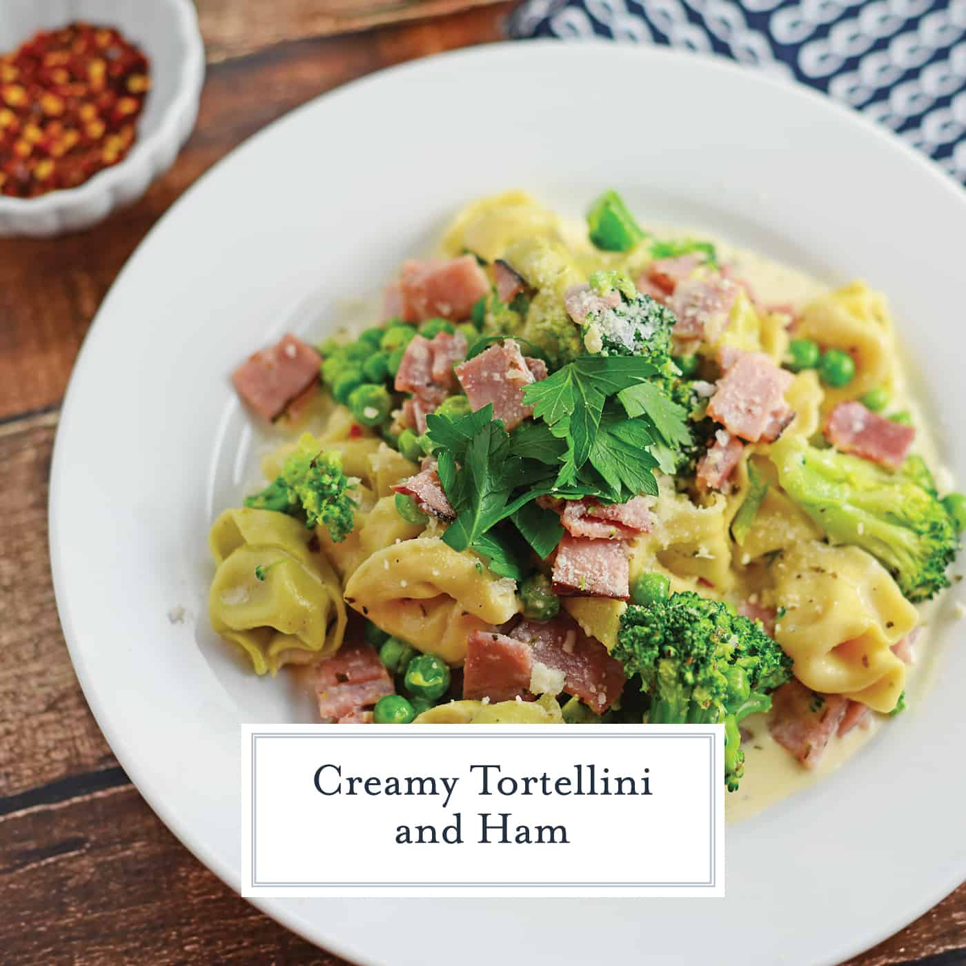 ham and cheese tortellini with broccoli
