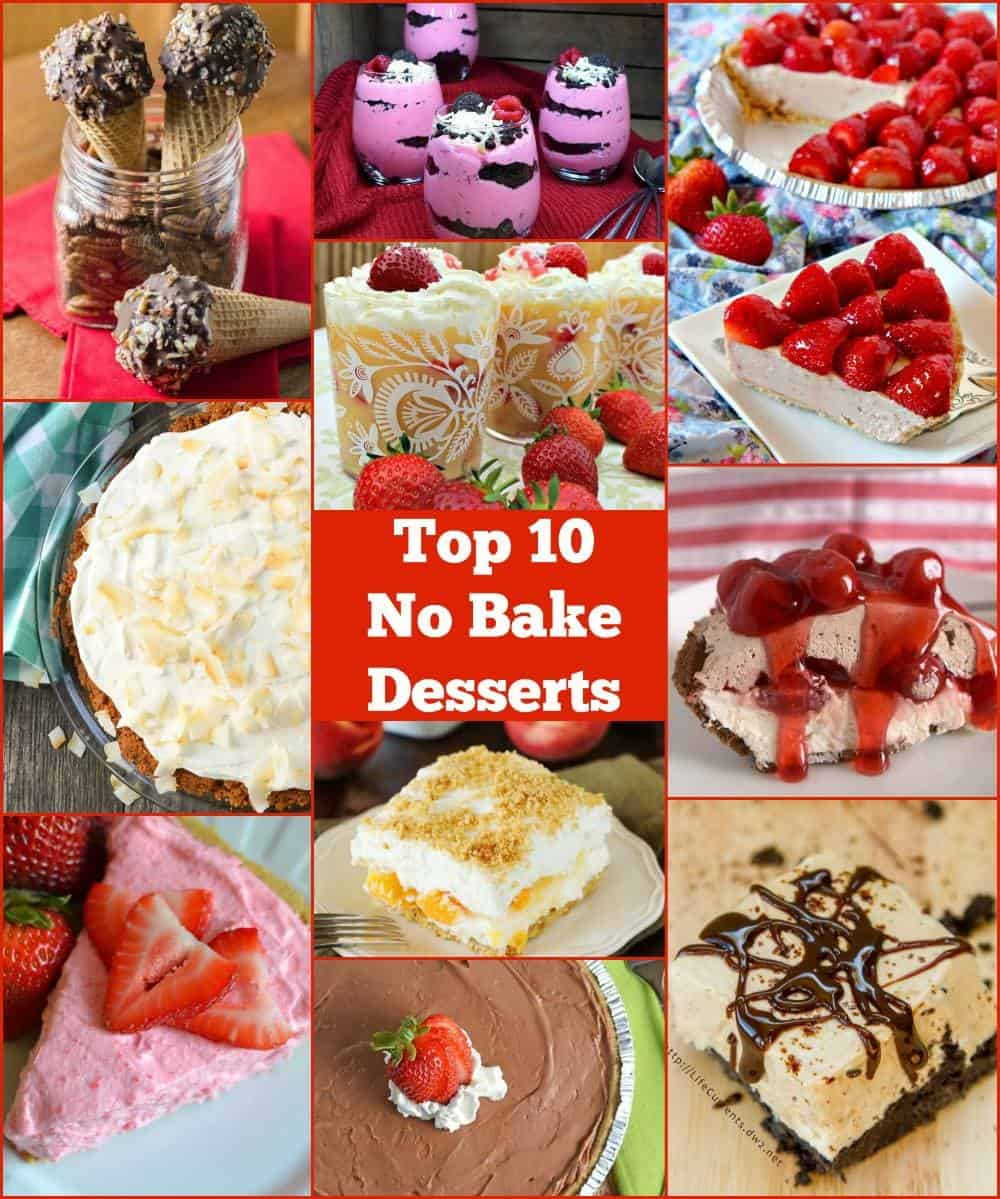 10 No Bake Dessert Recipes - super easy and super tasty easy desserts. www.savoryexperiments.com