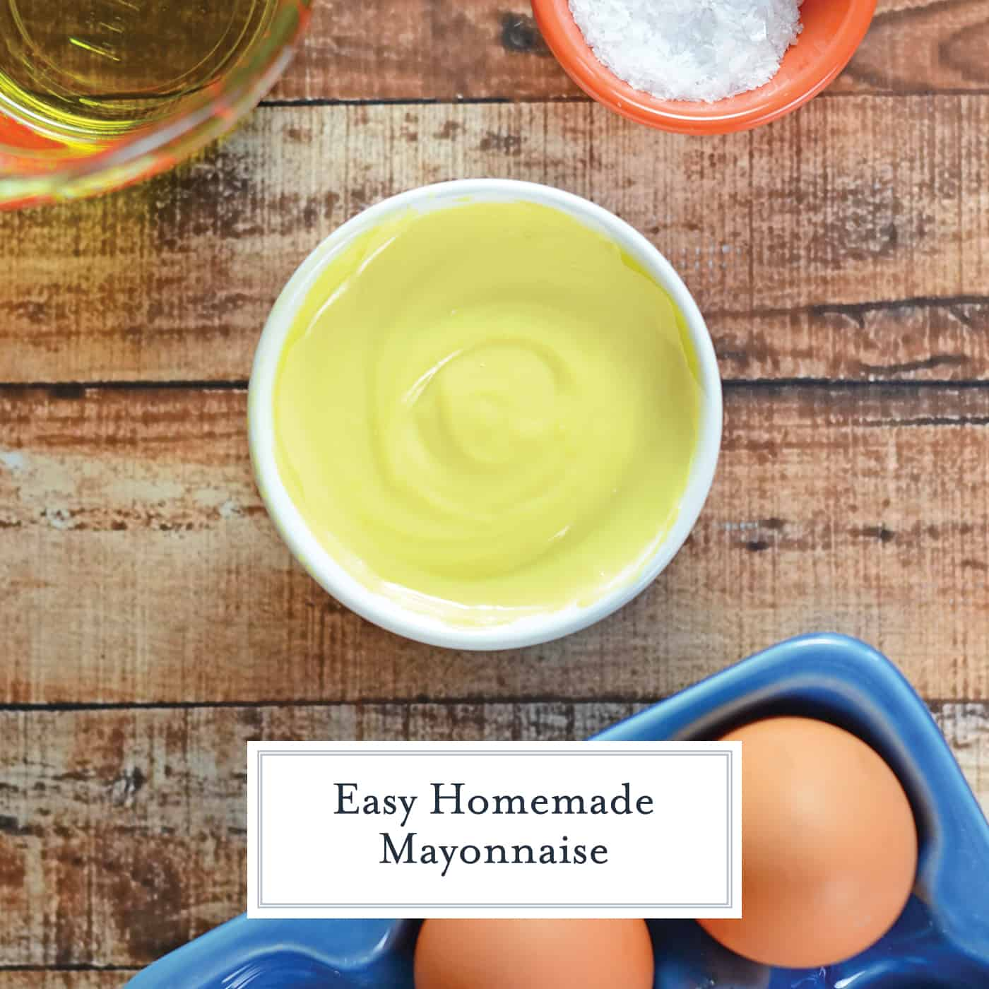 Do you know how easy it is to make homemade mayonnaise? SO EASY! Make my blender mayonnaise with 3 ingredients and 3 minutes today! #homemademayonnaise #blendermayonnause #howtomakemayonnaise www.savoryexperiments.com