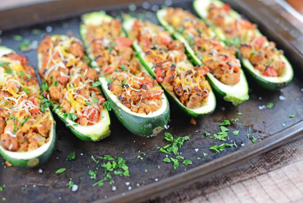 Grilled Turkey Zucchini Boats