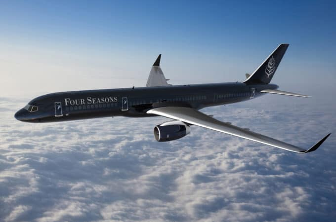 Fly Around the World on the Four Seasons Jet