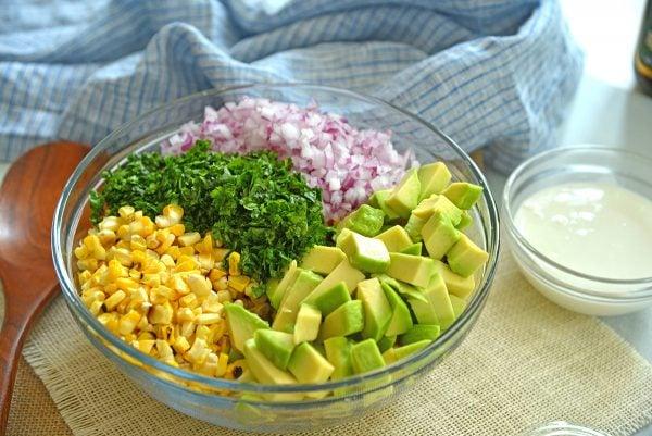 ingredients for esquites salad