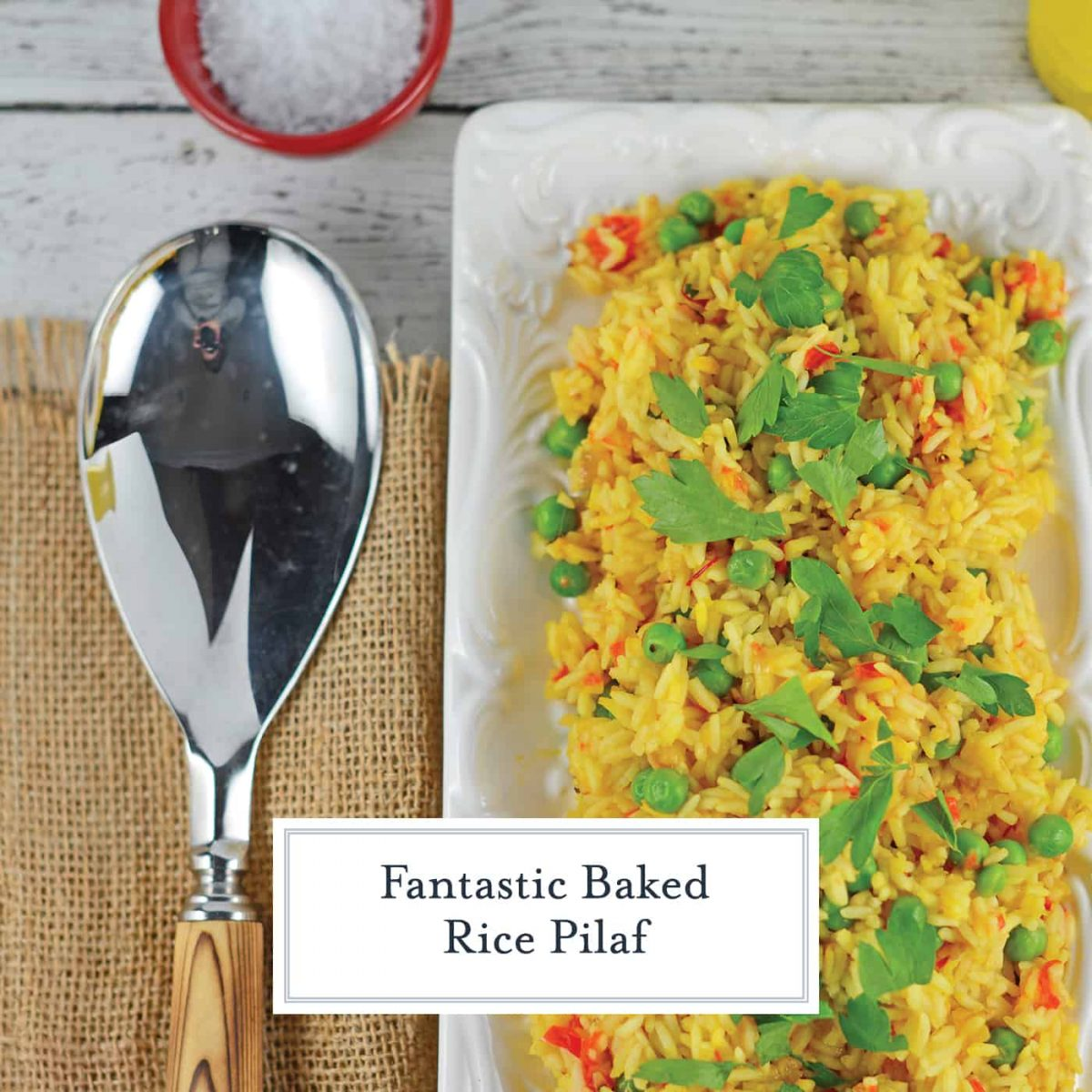 You'll never buy boxed rice pilaf ever again once you've made Bake Rice Pilaf! This is a fool proof way of getting the perfect rice every time… in the oven!