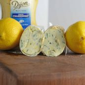 Lemon Dijon Butter with two lemons