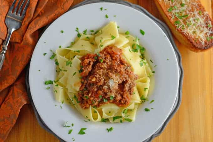 Bolognese Sauce is a classic, rich and hearty Italian sauce made with ground meat and coarsely chopped vegetables. Serve over pasta or in lasagna.