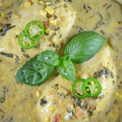 Coconut Curry Chicken | Easy Curry Recipe| Curry with coconut milk, jalapenos, corn and chicken.