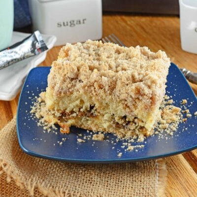 This is a classic Coffee Cake Recipe. Cinnamon streusel topping and a ribbon of brown sugar filling make this moist cake perfect for breakfast, brunch or serving with afternoon tea.