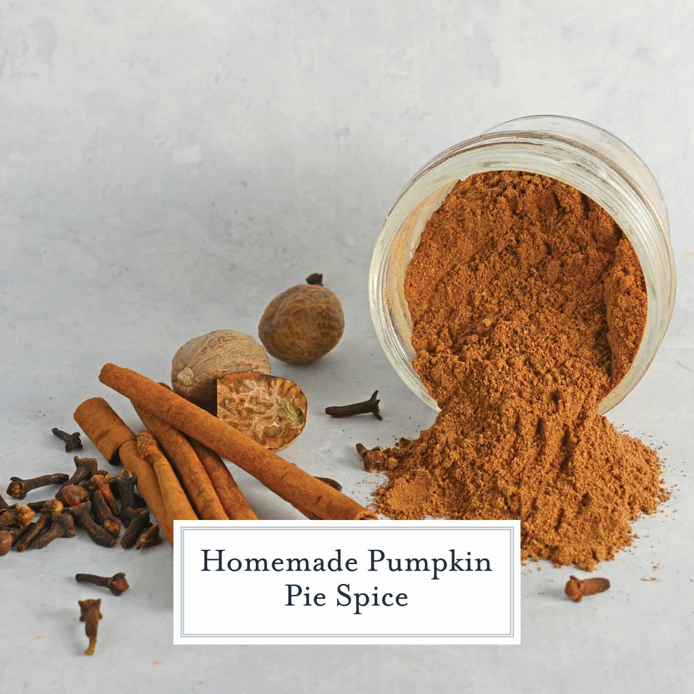 Homemade Pumpkin Pie Spice is a simple recipe made from ingredients you already have in your pantry! It also makes an excellent homemade gift! #homemadepumpkinpiespice #whatisinpumpkinpiespice #pumpkinspice www.savoryexperiments.com