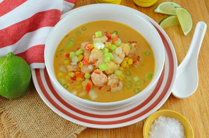Seafood Thai Coconut Soup Using Dorot Herbs