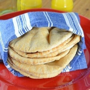 Whole Wheat Flatbreads take only 30 minutes and 5 ingredients to prepare!