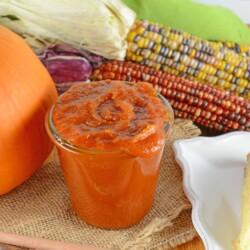 Pumpkin Butter in a glass jar