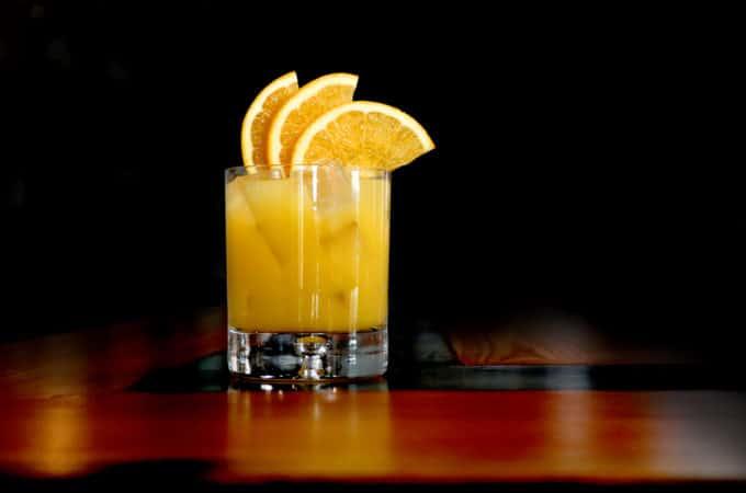 Orange Frost Cocktail